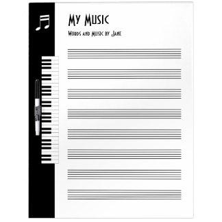 Mi música - tablero improvisado de la música de pizarras blancas