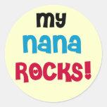 Mi Nana oscila las camisetas y los regalos Pegatinas Redondas