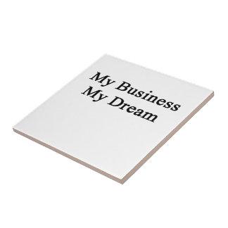 Mi negocio mi sueño azulejo cuadrado pequeño