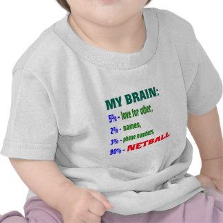 Mi Netball. del cerebro el 90% Camiseta