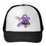 Mi nieta es mi héroe - cinta púrpura gorro de camionero