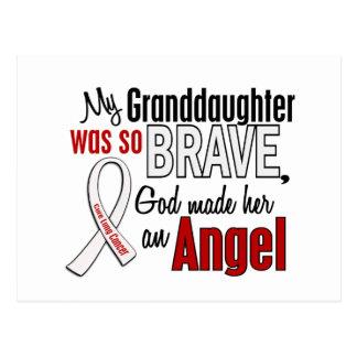 Mi nieta es un cáncer de pulmón del ángel tarjetas postales