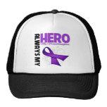 Mi nieta siempre mi héroe - cinta púrpura gorros