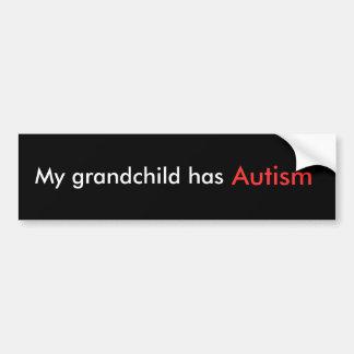Mi nieto tiene autismo pegatina de parachoque
