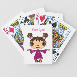 Mi niña baraja de cartas