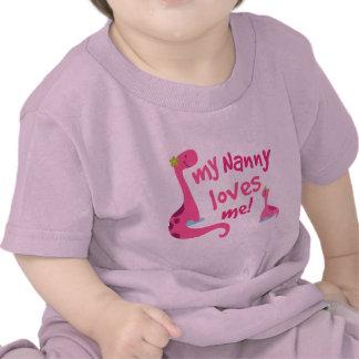Mi niñera me ama dinosaurio camiseta