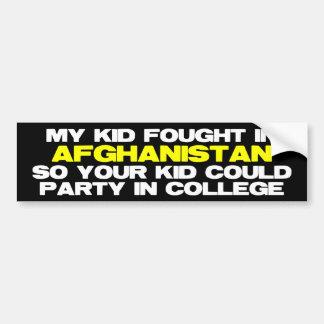 Mi niño de combate en Afganistán Pegatina Para Auto