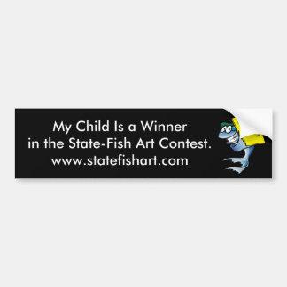 Mi niño es un ganador etiqueta de parachoque
