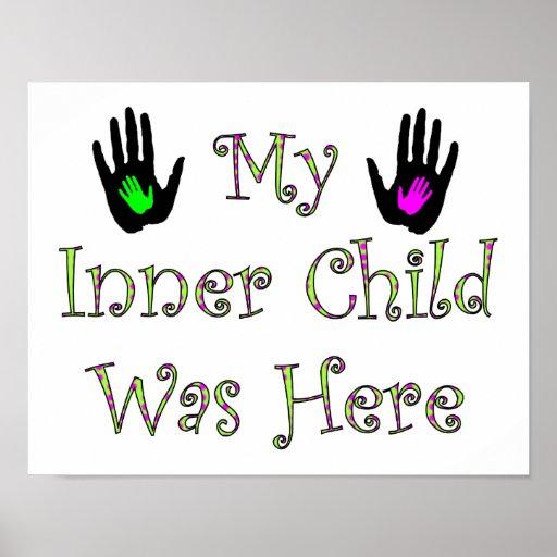 Mi niño interno estaba aquí póster