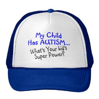 Mi niño tiene autismo cuál es su superpoder de los gorro de camionero