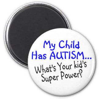 Mi niño tiene autismo cuál es su superpoder de los iman de frigorífico