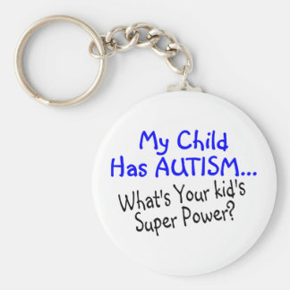 Mi niño tiene autismo cuál es su superpoder de los llavero redondo tipo pin