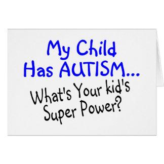 Mi niño tiene autismo cuál es su superpoder de los felicitacion