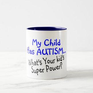 Mi niño tiene autismo cuál es su superpoder de los taza dos tonos