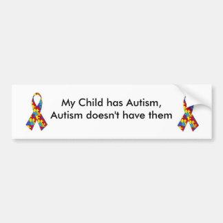 Mi niño tiene autismo. Pegatina para el Pegatina Para Auto