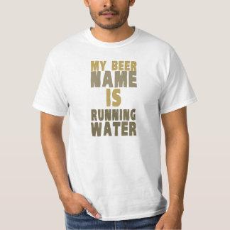 Mi nombre de la cerveza es agua corriente poleras