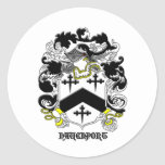 mi nombre del davenport_family_crest_Black Pegatina