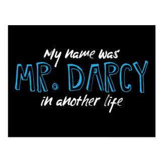 Mi nombre era Sr. Darcy en otra vida - Jane Austen Postal