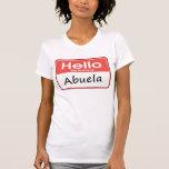 Mi nombre es Abuela Camisetas