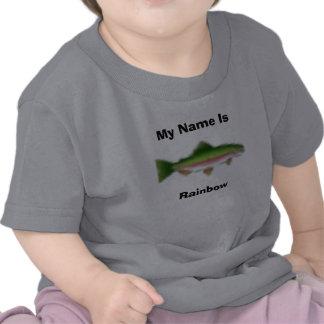 Mi nombre es, arco iris camiseta