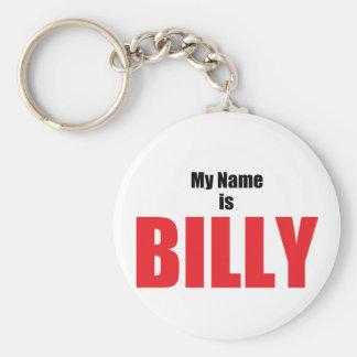 Mi nombre es Billy Llavero Personalizado