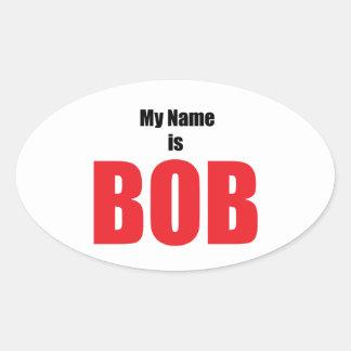 Mi nombre es Bob Pegatina Ovalada