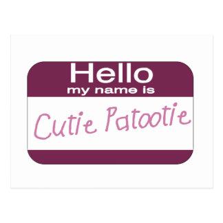 Mi nombre es Cutie Patootie Postal