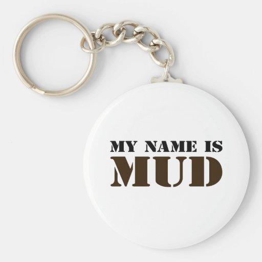 Mi nombre es fango llavero personalizado