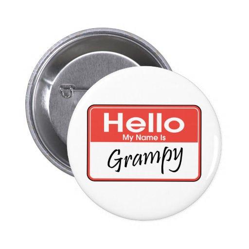 Mi nombre es Grampy Pin Redondo 5 Cm
