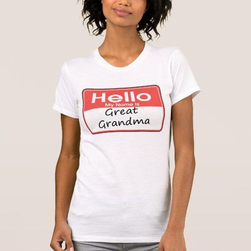 Mi nombre es gran abuela camisetas
