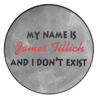 Mi nombre es James Tillich Plato De Comida