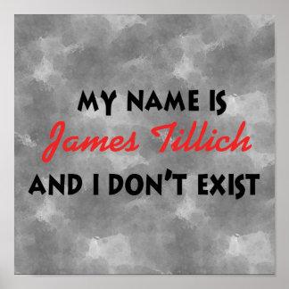 Mi nombre es James Tillich Póster