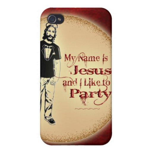 MI NOMBRE ES JESÚS Y TENGO GUSTO DE IR DE FIESTA iPhone 4 FUNDA