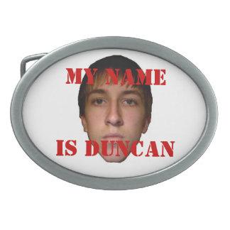 Mi nombre es la hebilla del cinturón 2010 de Dunca Hebilla De Cinturón Oval