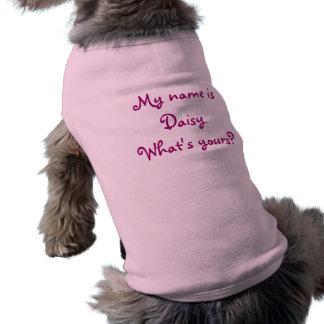 Mi nombre es margarita. ¿Cuál es el suyo? ¡Persona Playera Sin Mangas Para Perro