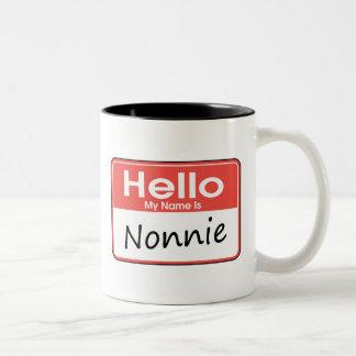 Mi nombre es Nonnie Taza De Dos Tonos