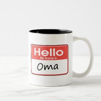 Mi nombre es Oma Tazas De Café