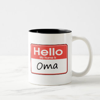Mi nombre es Oma Taza Dos Tonos