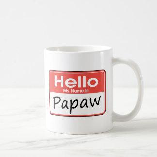 Mi nombre es Papaw Tazas De Café