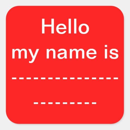 Mi nombre es pegatina