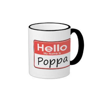 Mi nombre es Poppa Taza A Dos Colores