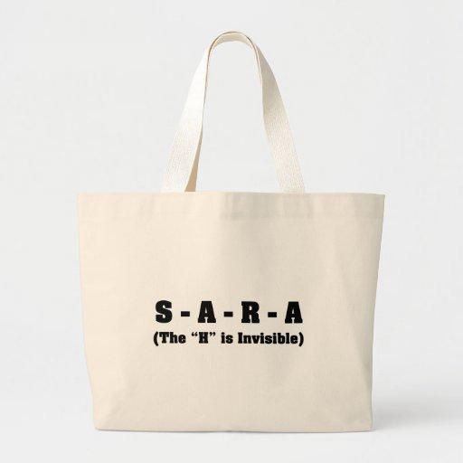 Mi nombre es Sara no Sarah Bolsa Tela Grande