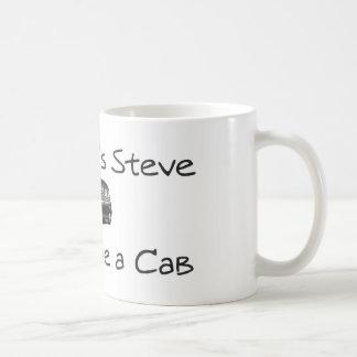 Mi nombre es Steve y conduzco un taxi Tazas De Café