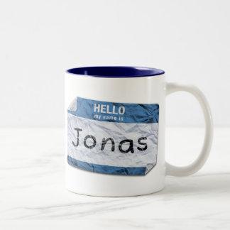 mi nombre es taza de Jonas