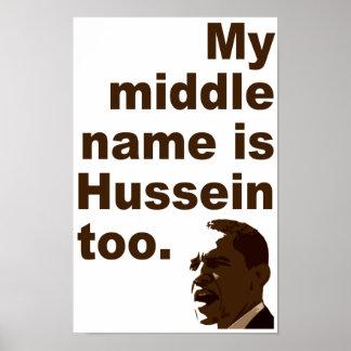 Mi nombre medio es poster de Hussein también