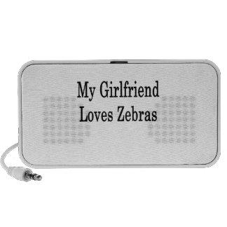Mi novia ama cebras laptop altavoces