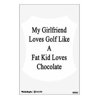 Mi novia ama golf como los amores Choc de un niño
