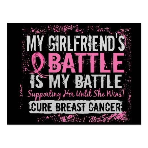 Mi novia del cáncer de pecho demasiado 2 de la postal