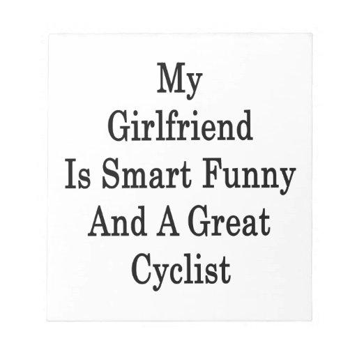 Mi novia es divertida elegante y un gran ciclista bloc de notas