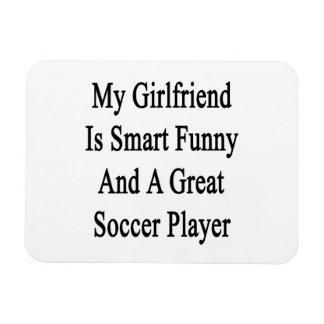 Mi novia es divertida elegante y un gran fútbol Pl Imán Rectangular